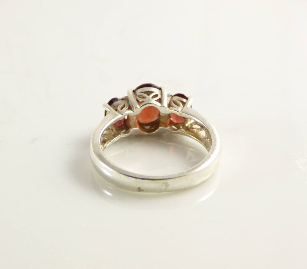 Garnet Ring Sterling Silver 925 Ring - Vintage Lane Jewelry