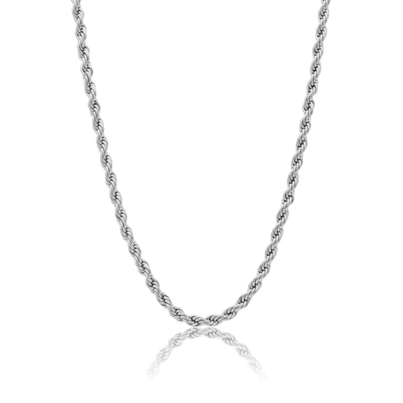 3MM ROPE CHAIN - WHITE GOLD
