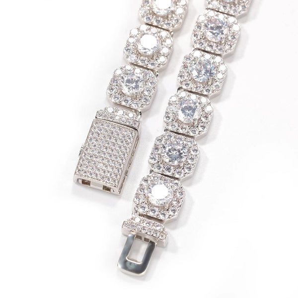 10MM TENNIS BRACELET - WHITE GOLD
