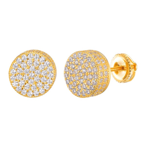 Diamond Paved Earring - Gold