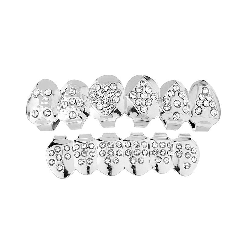 Cubic Zirconia Grillz - WHITE GOLD