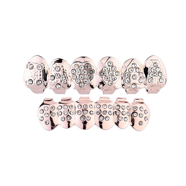Cubic Zirconia Grillz - Rose Gold