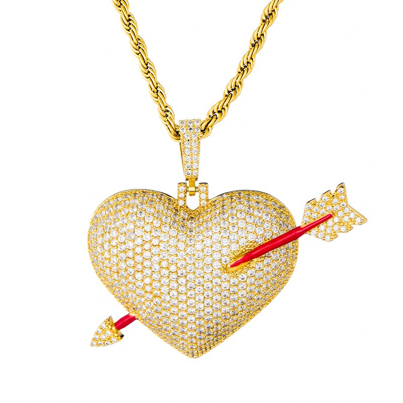 ARROW HEART PENDANT - GOLD