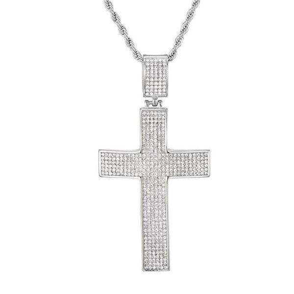 CROSS PENDANT - WHITE GOLD