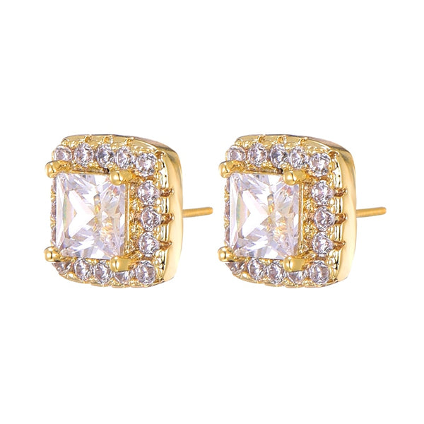 Diamond Stud Earring - Gold