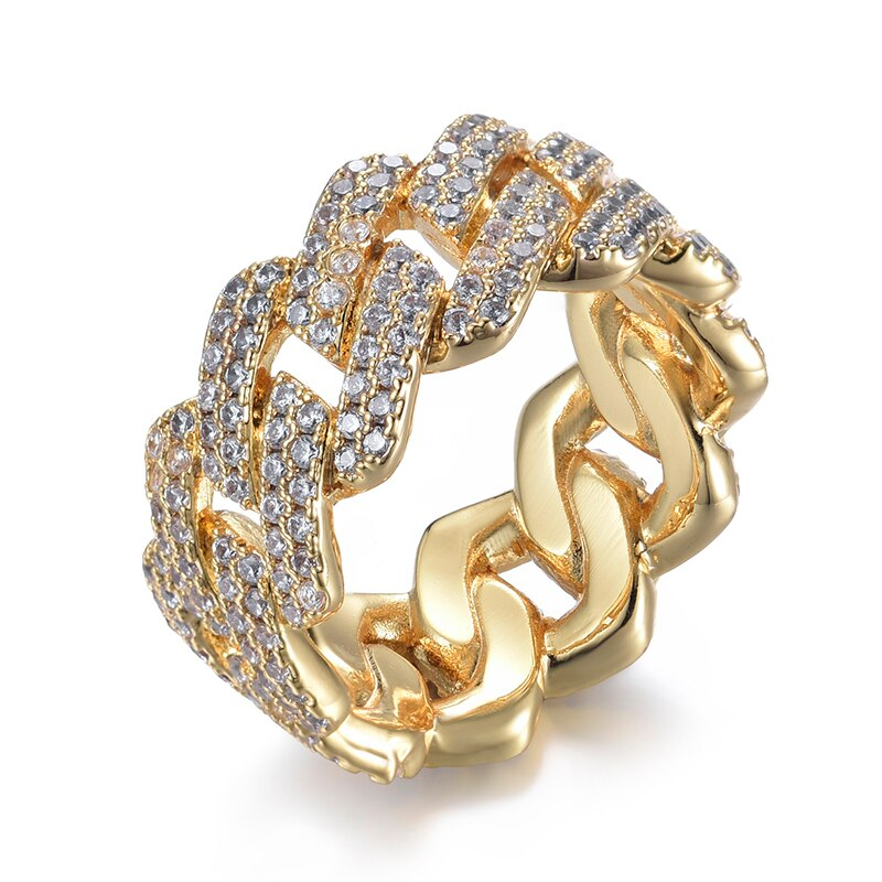 PRONG CUBAN RING - GOLD - IceWorldz