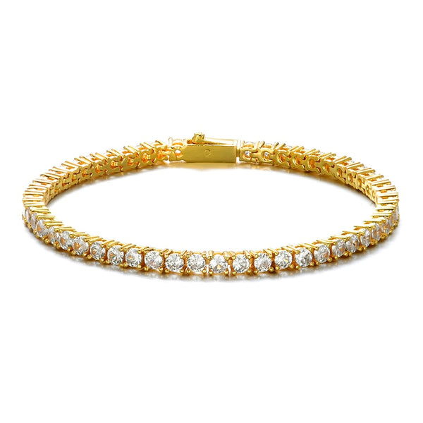 5MM TENNIS BRACELET -  GOLD - IceWorldz