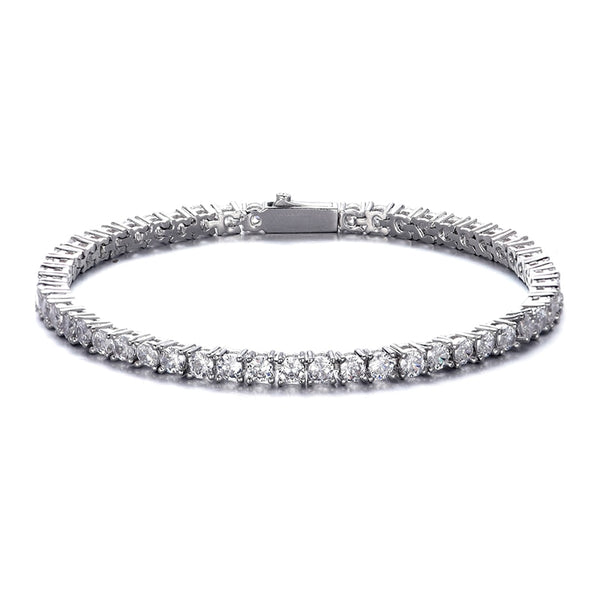 5MM TENNIS BRACELET - WHITE GOLD - IceWorldz