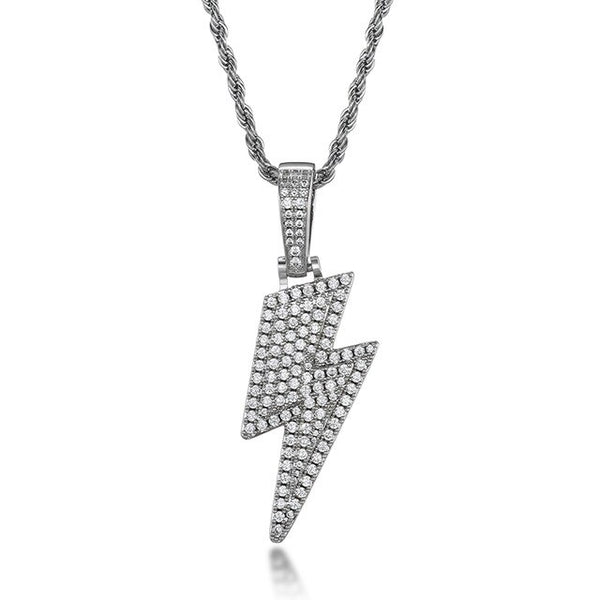 BLITZ PIECE PENDANT - WHITE GOLD