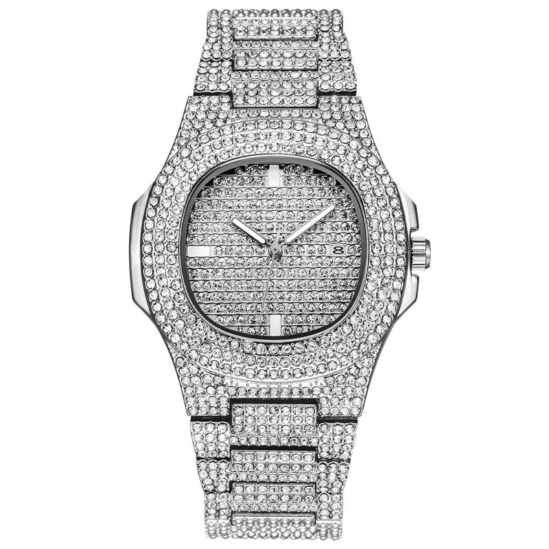 Stainless Steel Quartz Watch - White gold