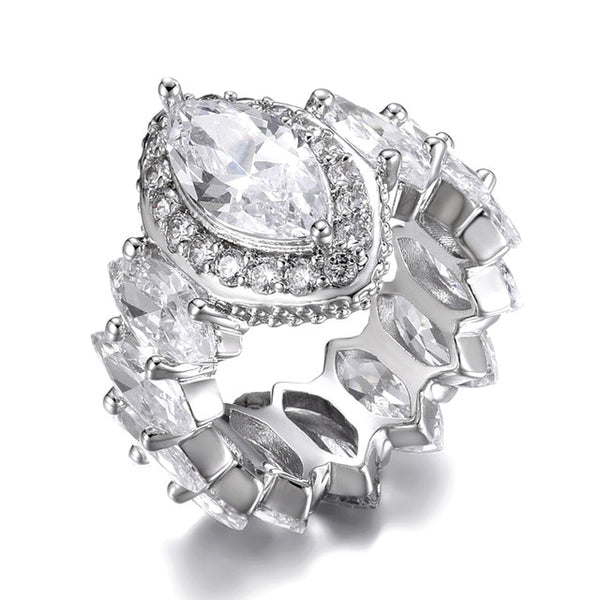 Iced Out Eye Ring - White Gold