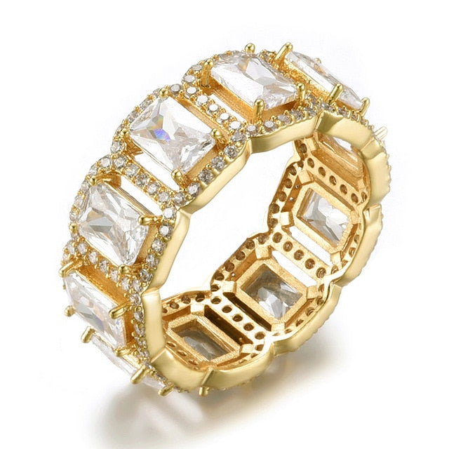 Ice Row Ring - Gold