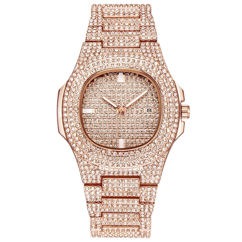Stainless Steel Quartz Watch - Rose Gold