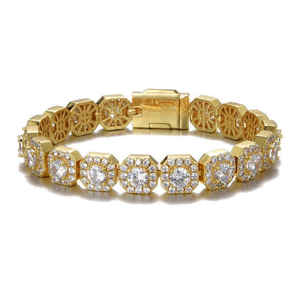 10MM TENNIS BRACELET - GOLD - IceWorldz
