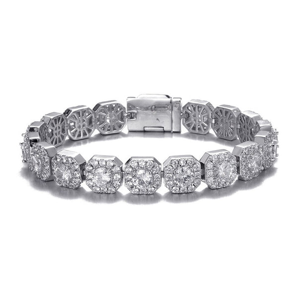 10MM TENNIS BRACELET - WHITE GOLD - IceWorldz