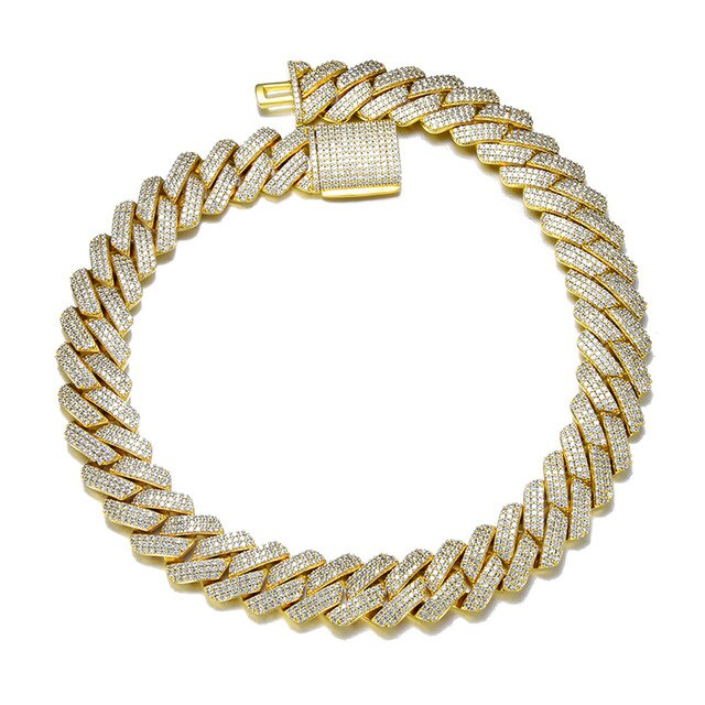 19MM CUBAN PRONG CHAIN - GOLD