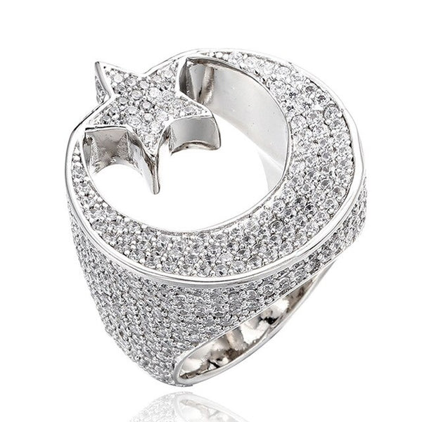 Star Ring - White Gold
