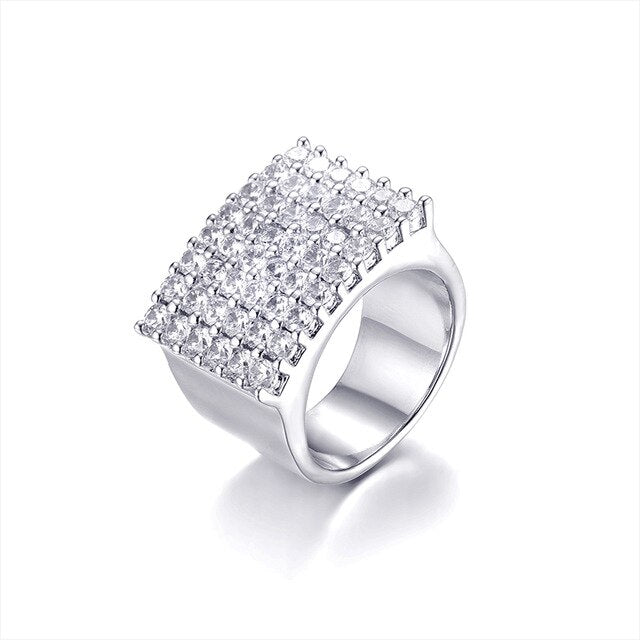 Diamond Row Ring - White Gold