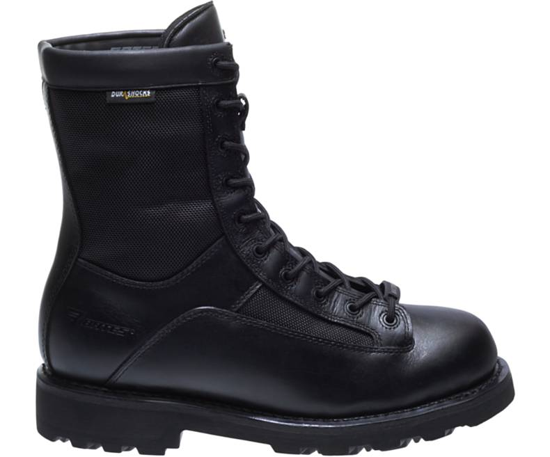 Bates E03135 Men's Durashocks Waterproof Lace-to-Toe Boots - Black
