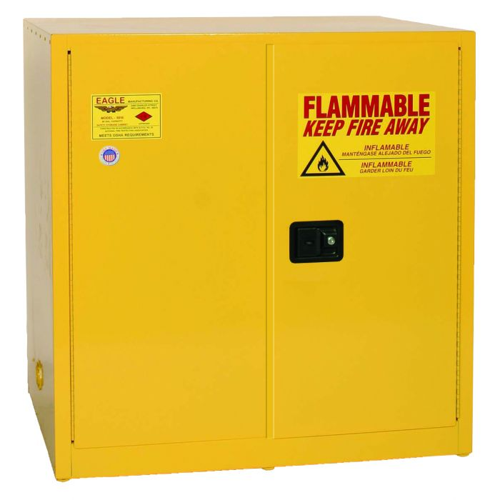 Eagle 6410X Self-Closing Flammable Liquid Storage Cabinet - 60 Gallon