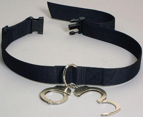 Humane Restraint Nylon Transport Belt with D-Ring and Side Buckle Closure