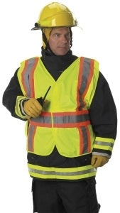 Lakeland Premium 5-Way Breakaway FR Treated Solid Polyester Public Safety Vest