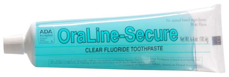 OraLine Secure 6.4 oz ADA Clear Toothgel (case)