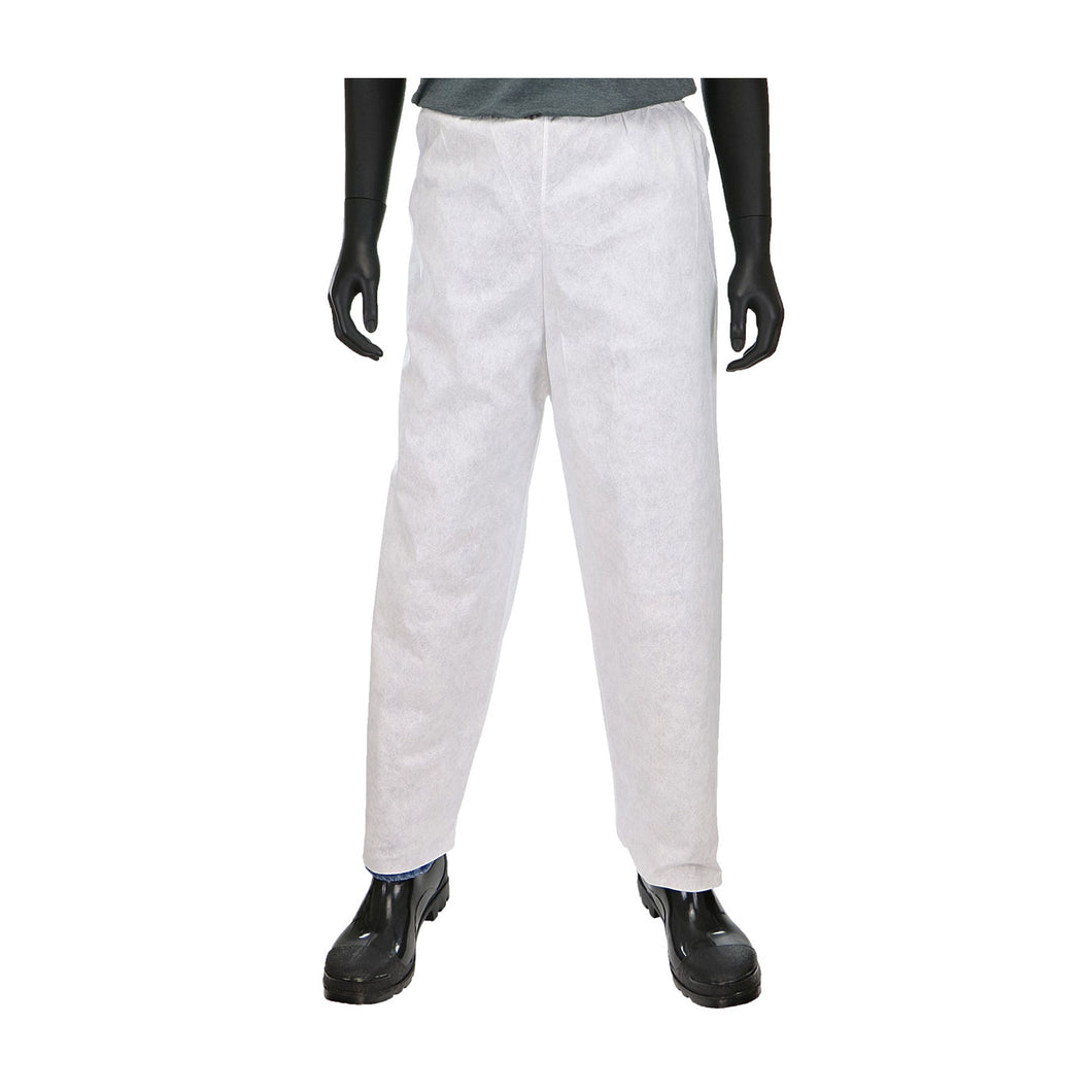 PosiWear M3 C3816 Disposable White Pants with Elastic Waist (Case)