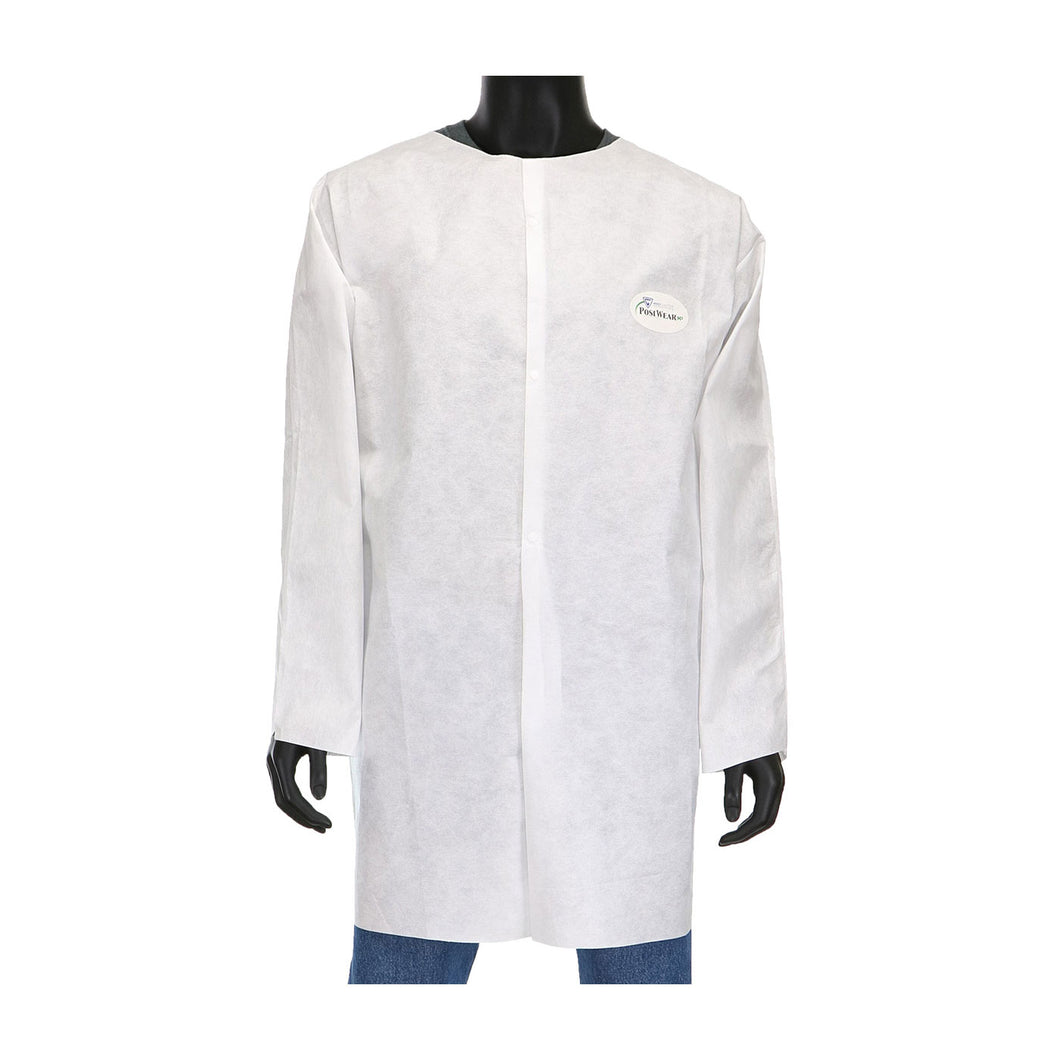 PosiWear M3 C3818 Disposable White Lab Coat without Pockets (Case)