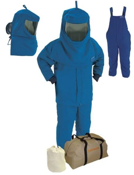 Steel Grip AGW40KA-JB-x Arc Flash Kit - Short Coat, Bib Overalls, Hood, Air Kit (HRC 4 - 40 cal)