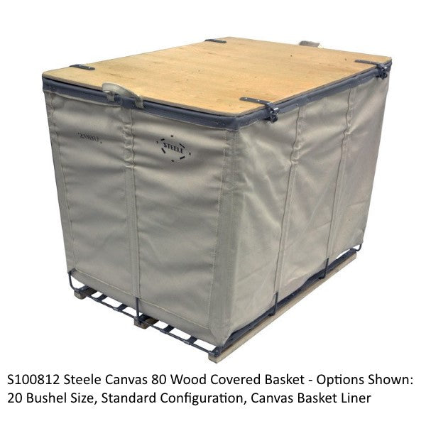 Steele Canvas 80 Wood Covered Utility Basket