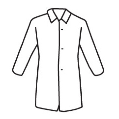 PosiWear UB 3718 Disposable White Lab Coats (Case)