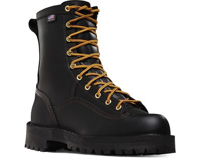 Danner 14100 Rain Forest 8 inch Work Boots - Black