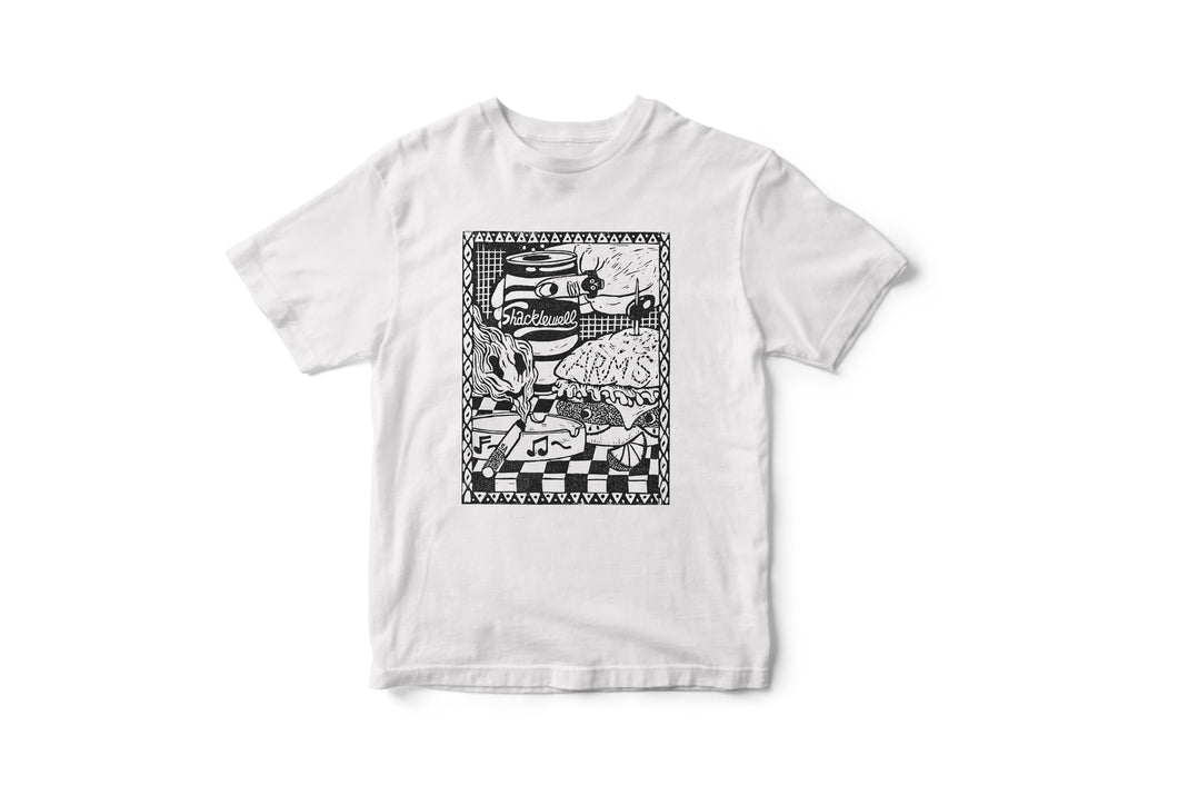 The Shacklewell Arms tee designed by Sophy Hollington