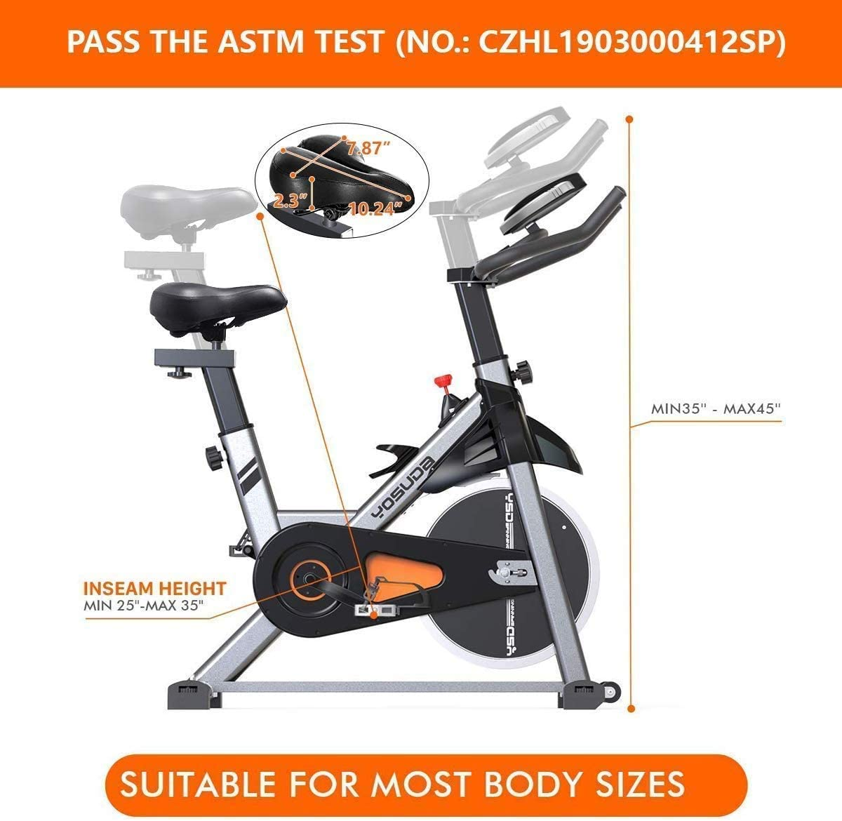 YOSUDA Indoor Cycling Bike Stationary - Cycle Bike with Ipad Mount and Comfortable Seat Cushion