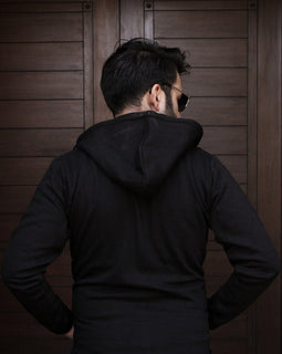 Black Removable Hoodie