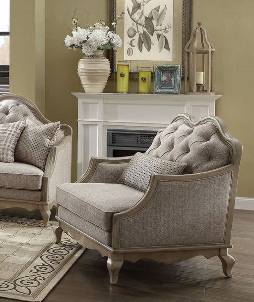 Acme Chelmsford Chair in Beige 56052 image
