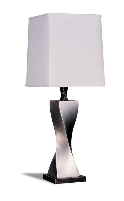 Accent Contemporary Antique Silver Table Lamp image