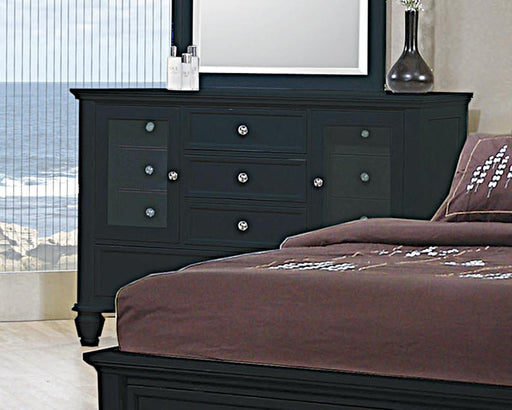 Sandy Beach Black 11-Drawer Dresser image