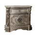 Northville Antique Silver Nightstand (MARBLE TOP) image