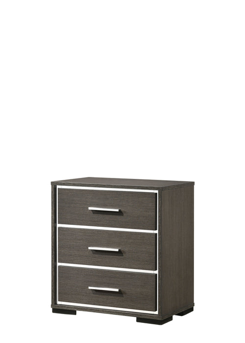 Escher Gray Oak Nightstand w/USB Dock image
