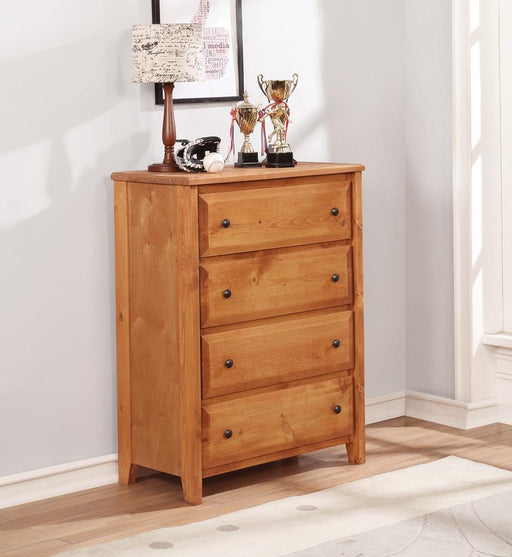 Wrangle Hill Amber Wash Four-Drawer Chest image