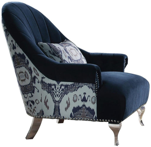 Acme Furniture Jaborosa Chair with 1 Pillow in Blue 50347 image