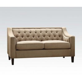 Acme Suzanne Loveseat in Beige Fabric 54011 image