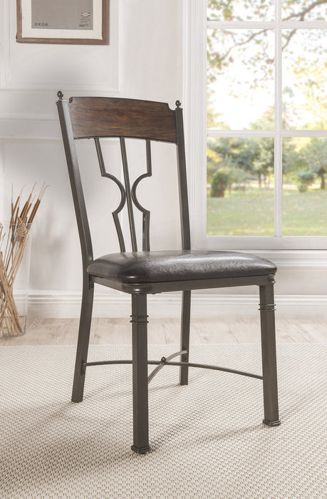 Acme Furniture Lynlee Side Chair in Espresso and Dark Bronze (Set of 2) 60017 image