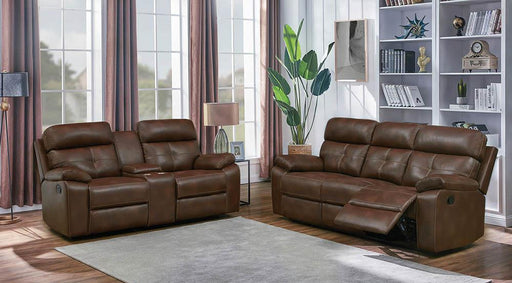 Zimmerman Brown Faux Leather Two-Piece Living Room Set image