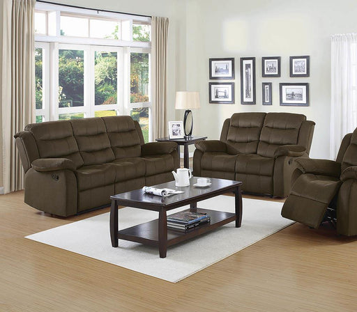 Rodman Chocolate Reclining Two-Piece Living Room Set image