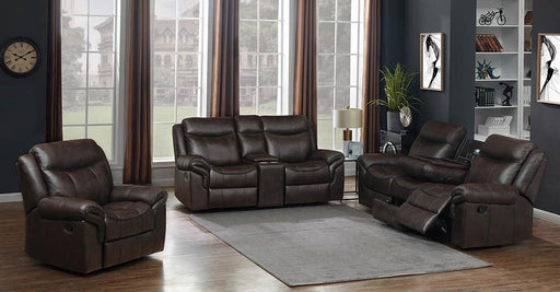 Sawyer Transitional Brown Three-Piece Living Room Set image