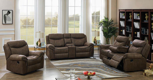 Sawyer Transitional Light Brown Three-Piece Living Room Set image