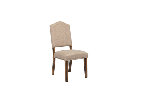 Maurice Khaki Linen & Antique Oak Side Chair image